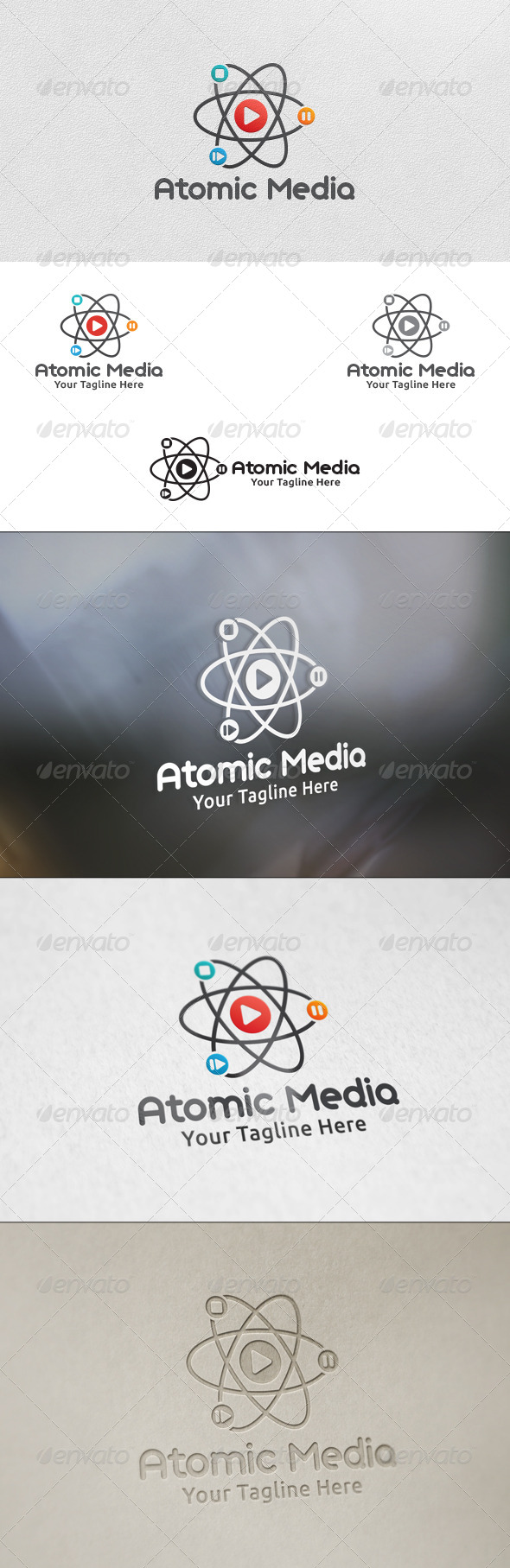GraphicRiver Atomic Media Logo Template 5938499