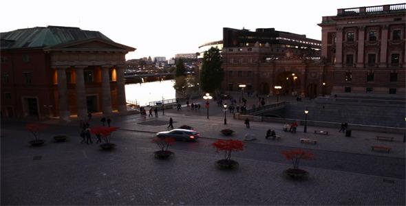 Square Stockholm Time Lapse