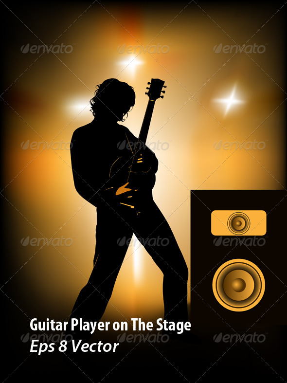 GraphicRiver Guitar Player 5938566