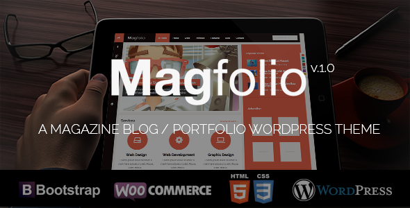 ThemeForest Magfolio WP WooCommerce Portfolio Blog Theme 5938719