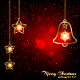 Sparkling Red Christmas Bell - GraphicRiver Item for Sale