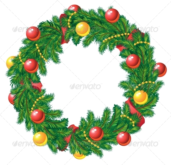 GraphicRiver Christmas Wreath 5939205