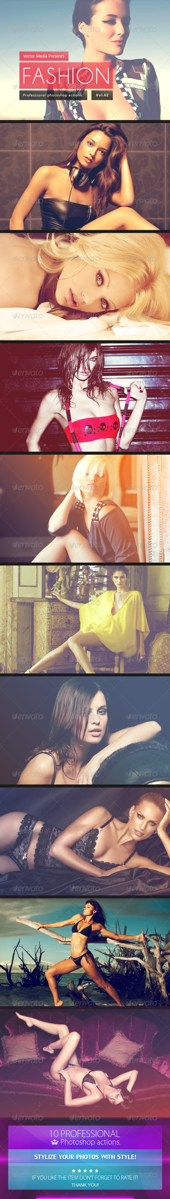 GraphicRiver Fashion Photoshop Actions [Vol.2] 5939224