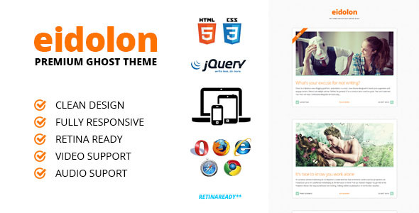 Eidolon | Ghost Theme - Responsive & Retina Ready