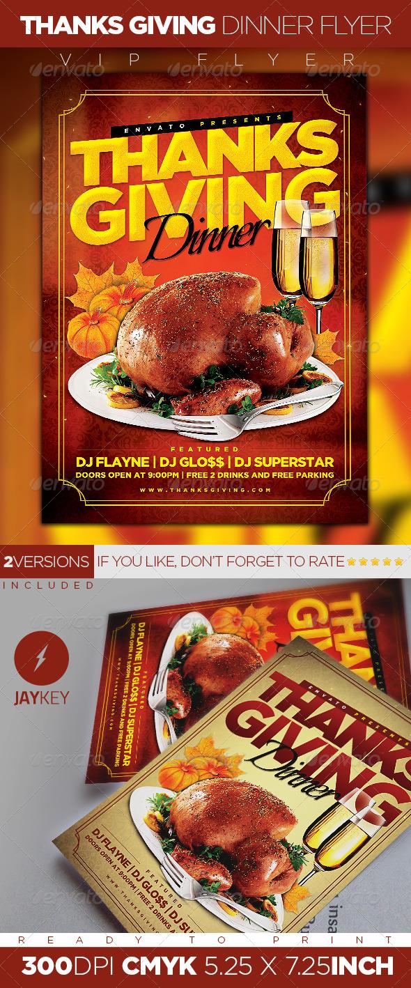 GraphicRiver Thanksgiving Dinner Flyer 5939499