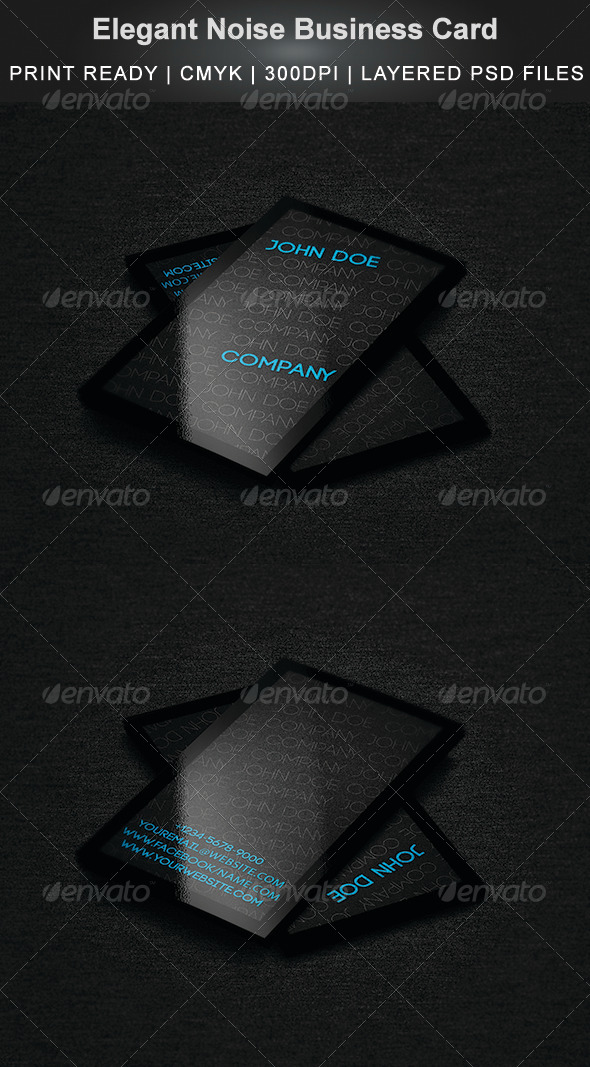 GraphicRiver Elegant Noise Business Card 5939769