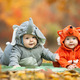 Two baby boys dressed in animal costumes - PhotoDune Item for Sale