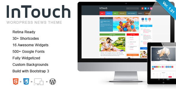 InTouch is a super-duper customizable, very unique, responsive, retina-ready WordPress Theme that everybody wants.InTouch can be configured to focus on your wo