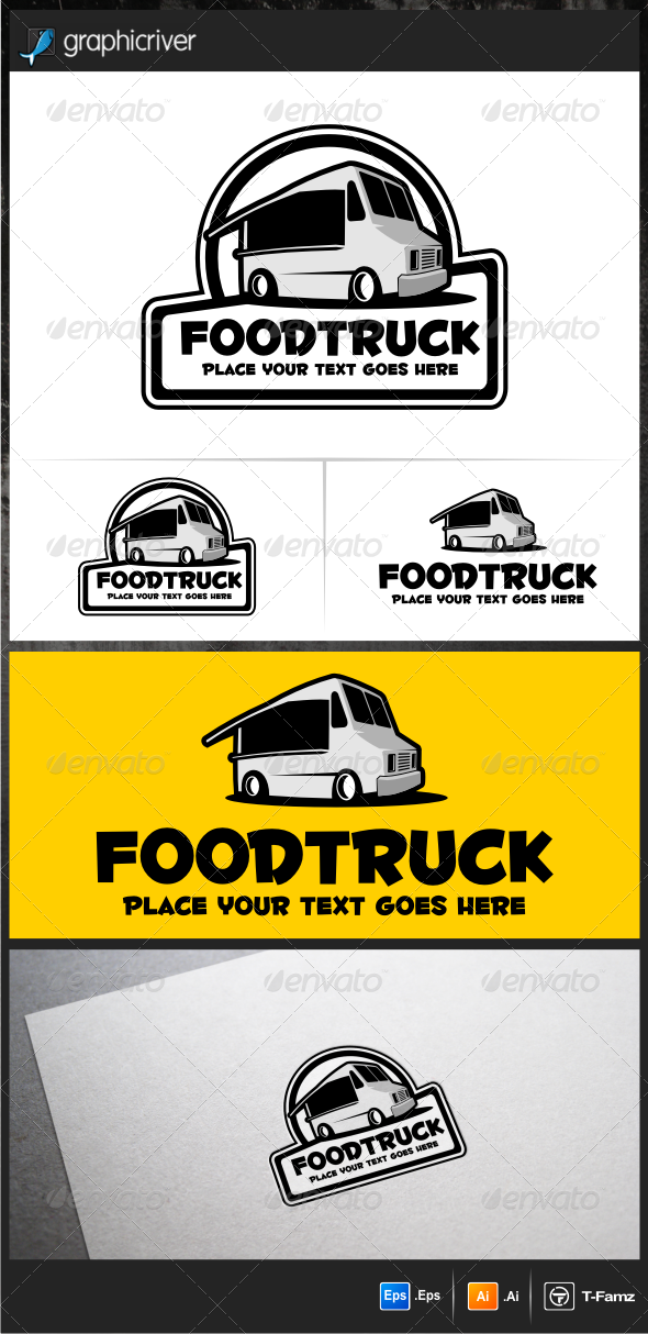 GraphicRiver Food Truck v.2 Logo Templates 5940181
