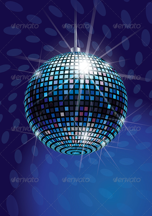 GraphicRiver Mirror Disco Ball Vector 5940213