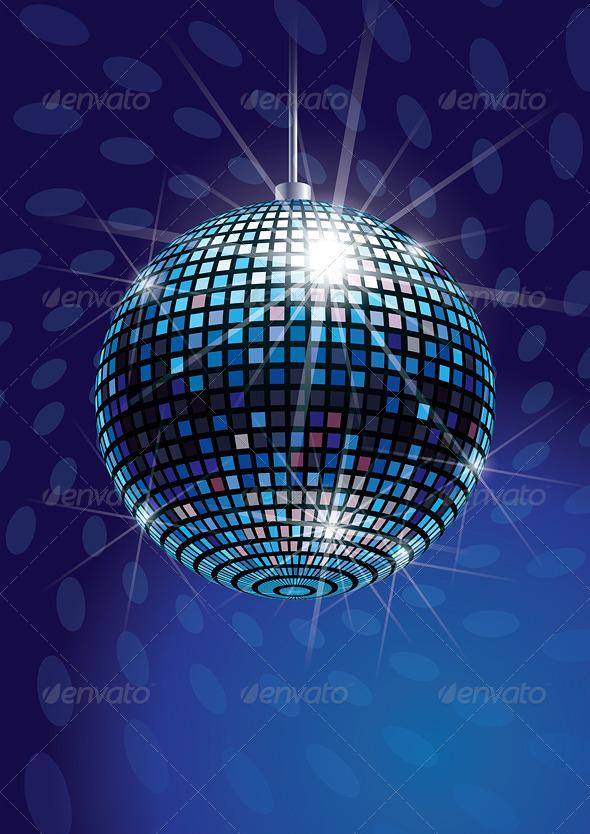 Mirror disco ball vector graphicriver for Envato graphicriver