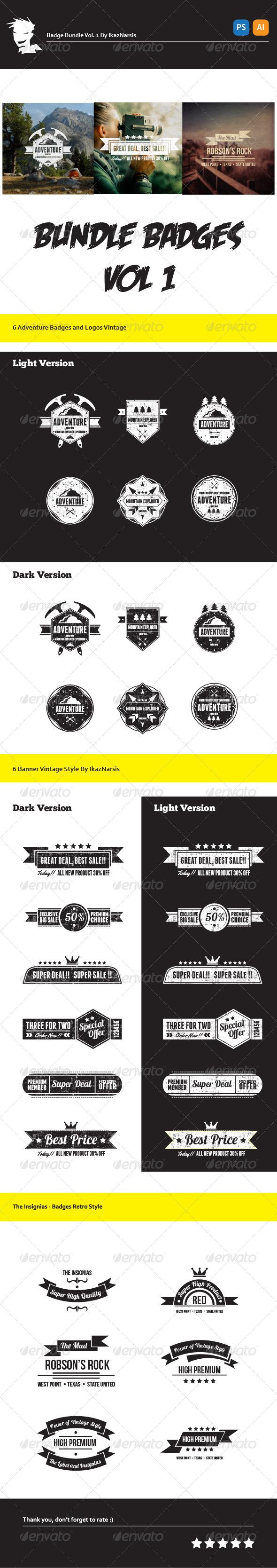GraphicRiver Bundle Badge Logo & Insignia 5940437