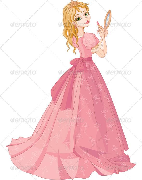 GraphicRiver Princess with Lipstick 5940712