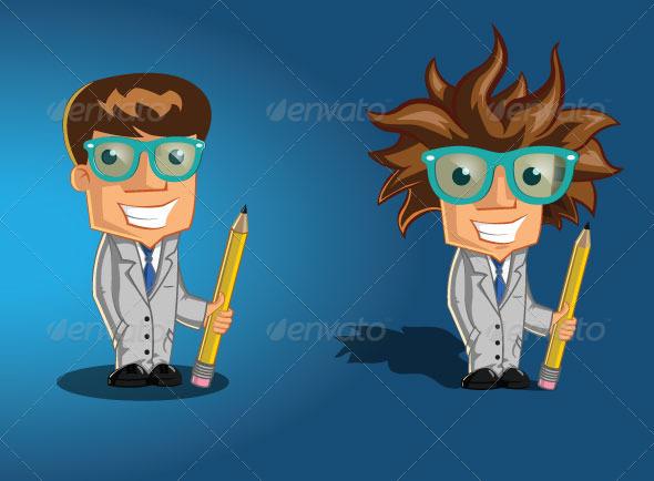 GraphicRiver Professor Genius Character 5941141