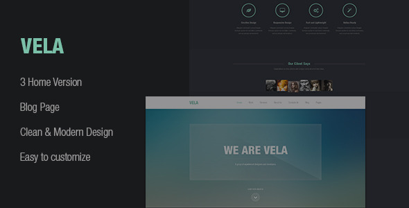 ST Vela - clean & modern design