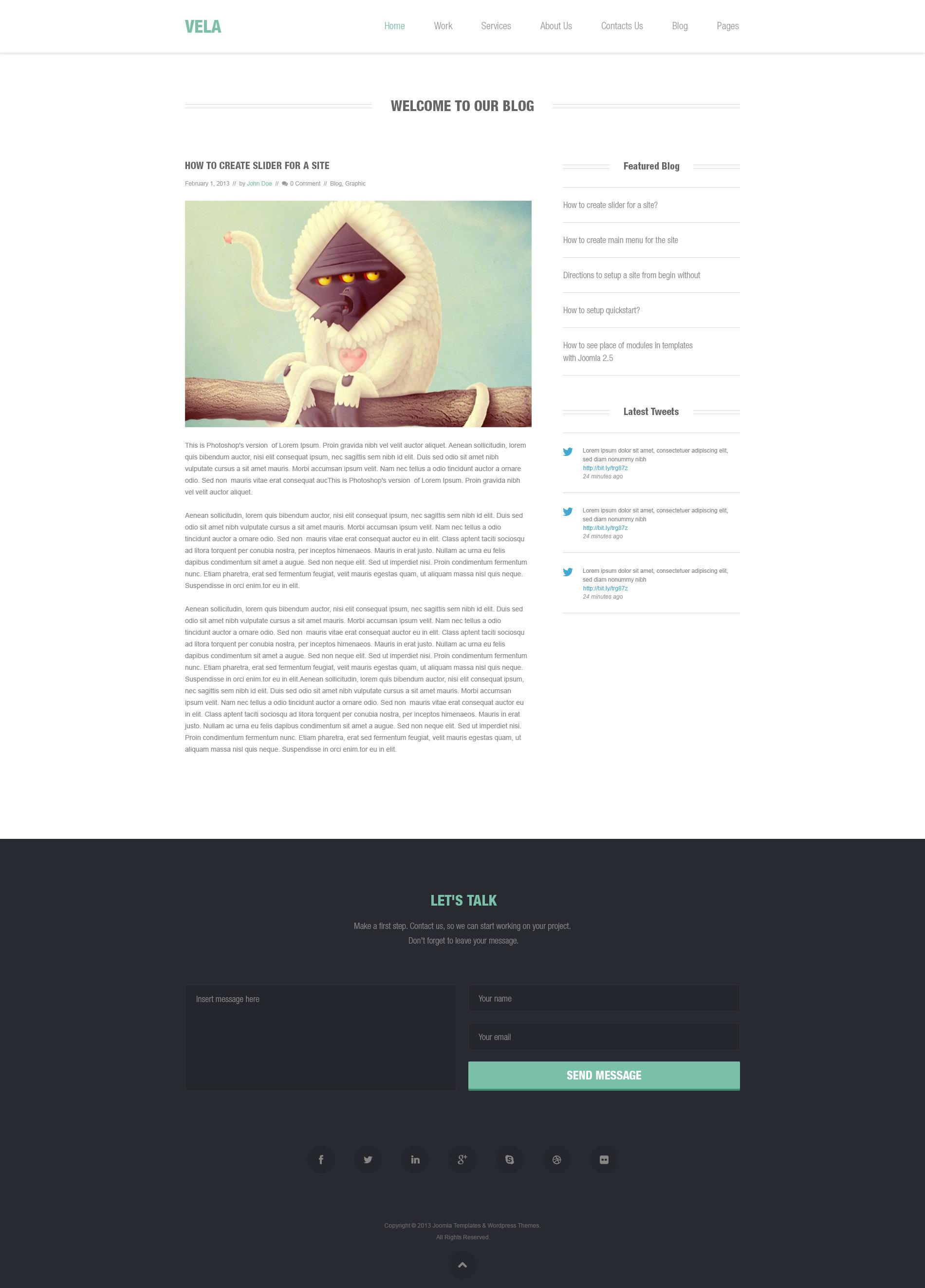 ST Vela - clean & modern design