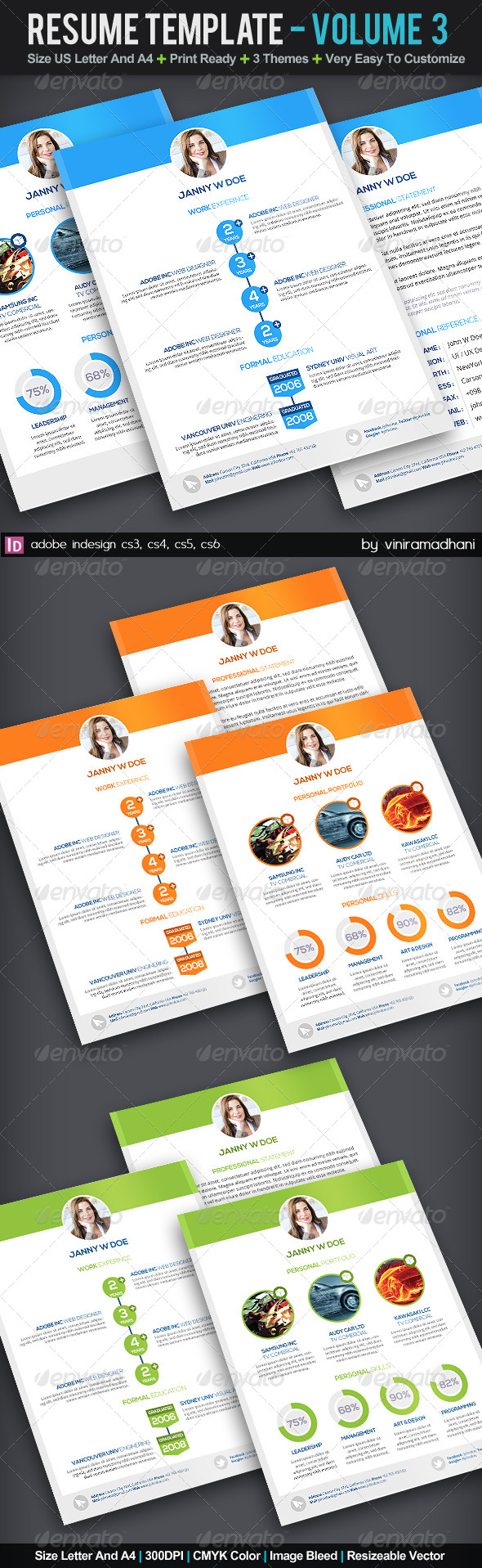GraphicRiver Resume Template Volume 3 5941269