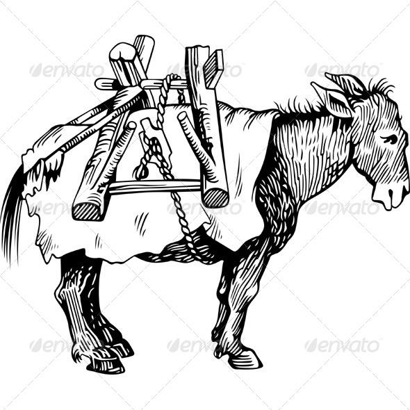 GraphicRiver Transportation Donkey 5941298