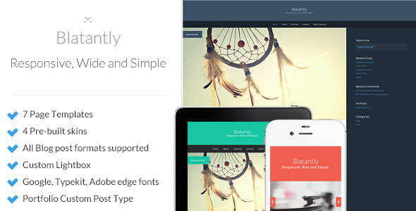 ThemeForest Blatantly A Versatile Theme 5834155