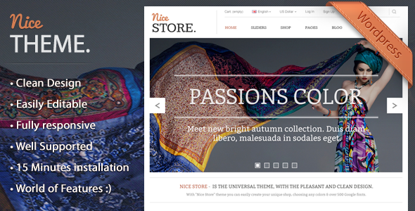 ThemeForest NiceTheme Clean Wordpress and Woocommerce Theme 5942605