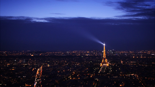 Paris Day to Night