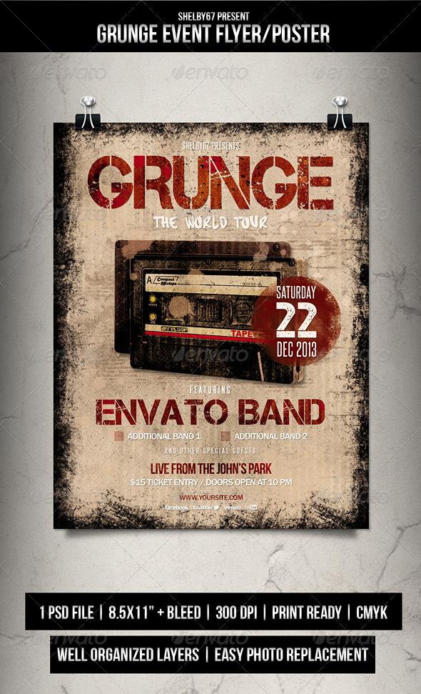GraphicRiver Grunge Event Flyer Poster 5943100
