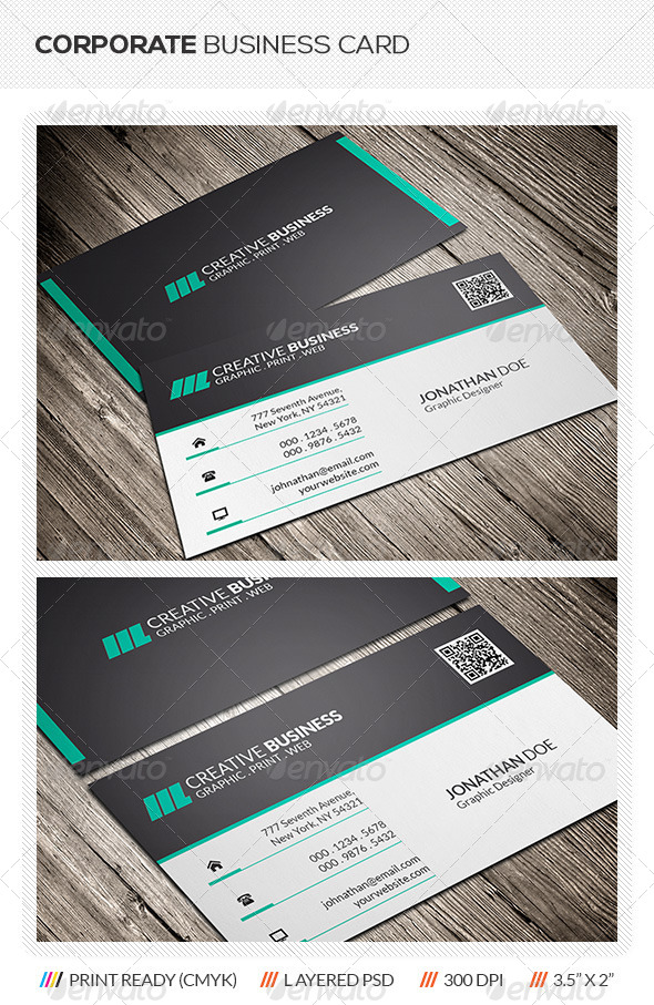 GraphicRiver Corporate Business Card 5943895