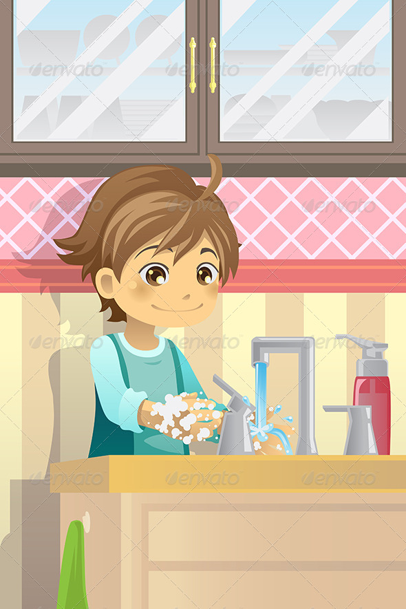 GraphicRiver Boy Washing Hands 5944064