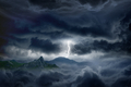Stormy sky, lightning, mountain - PhotoDune Item for Sale
