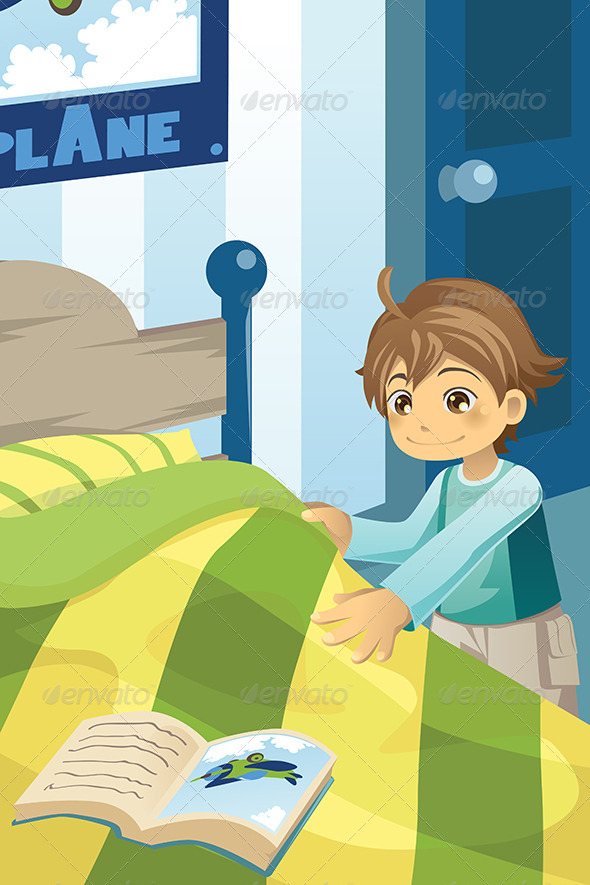 GraphicRiver Boy making his Bed 5944116