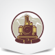 Old Train Logo - GraphicRiver Item for Sale