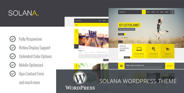 Solana - Responsive Multipurpose WordPress Theme