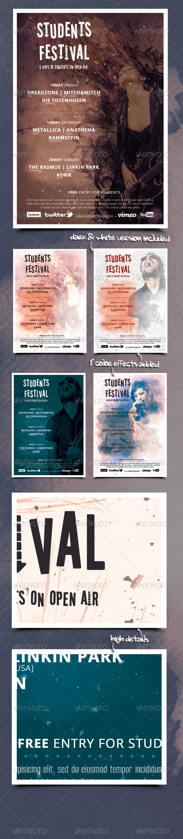 GraphicRiver Students City Festival Flyer Poster 5944244