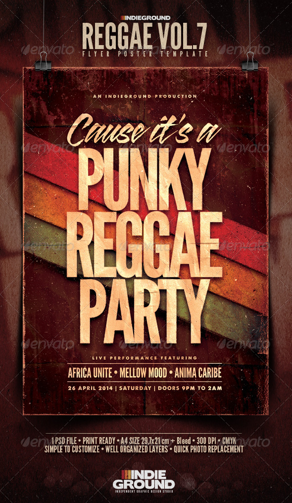 GraphicRiver Reggae Flyer Poster Vol 7 5944946