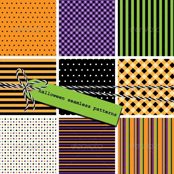 GraphicRiver Halloween Seamless Patterns 5945242