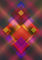 Squares on bright Iridescent Dark Background - PhotoDune Item for Sale