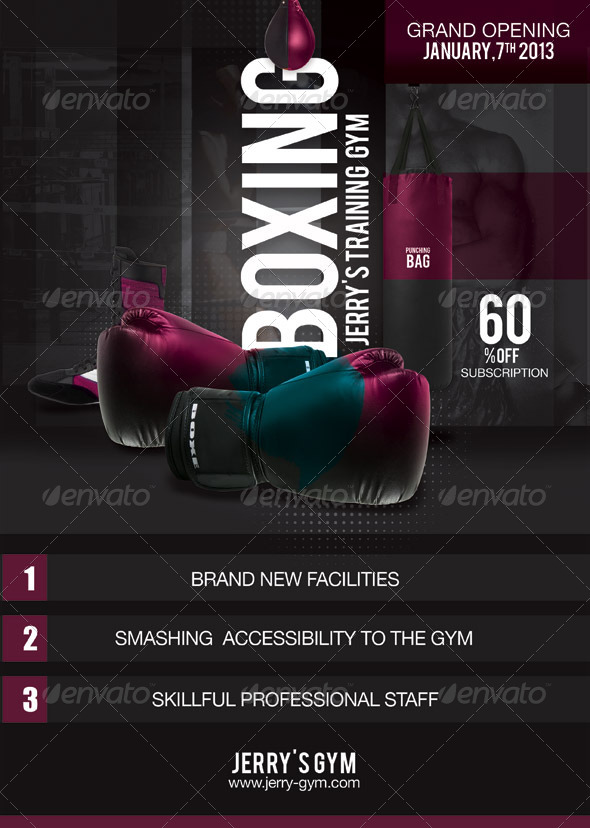 GraphicRiver Flyer Boxing Training Gym 5945364