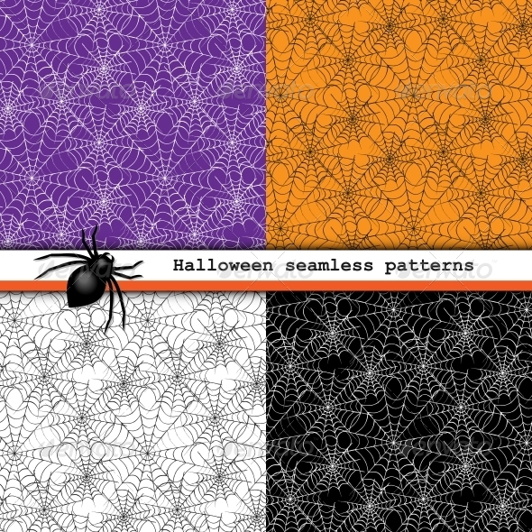 GraphicRiver Spider Web Seamless Patterns 5945423