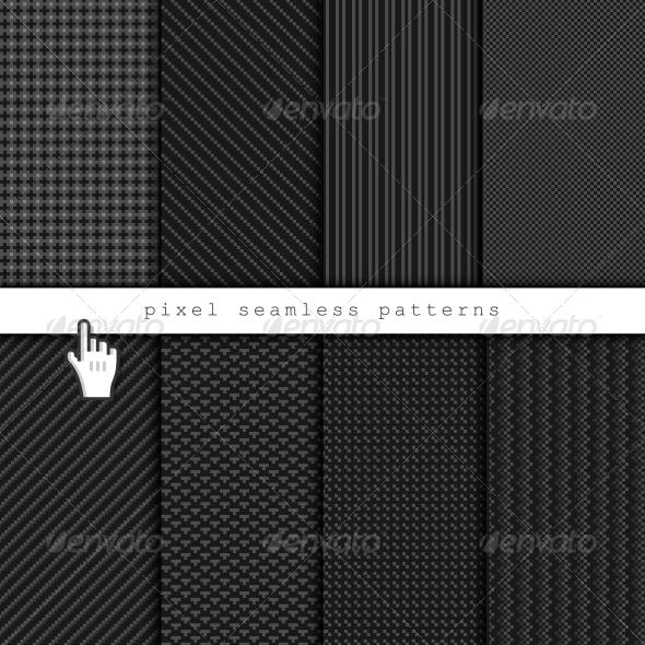 GraphicRiver Dark Pixel Seamless Patterns 5945470