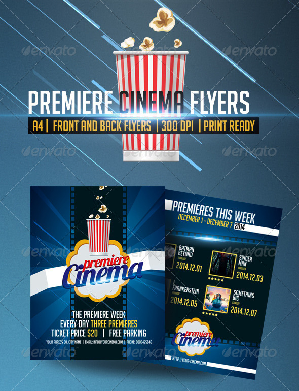 Premiere Cinema Flyers - Events Flyers