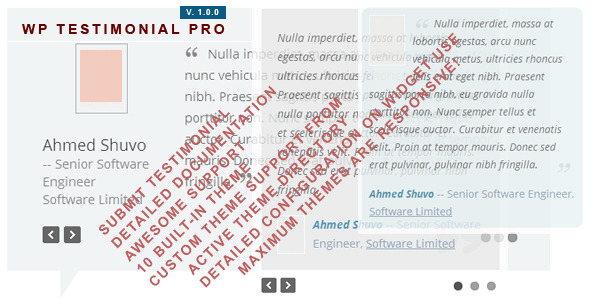 CodeCanyon WP Testimonial Pro Multi Themed Plugins 5850539