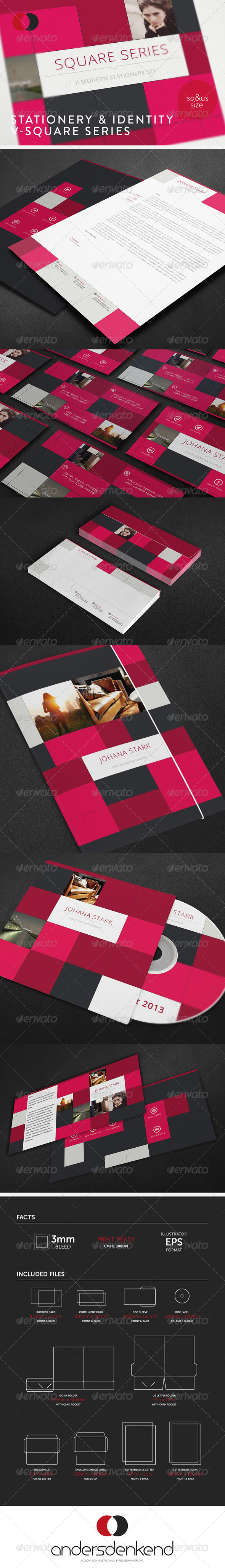 GraphicRiver Stationery & Identity V-Square Series 5946419