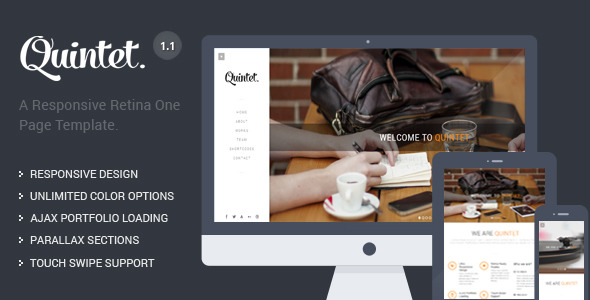 Quintet - Responsive One Page Parallax Template