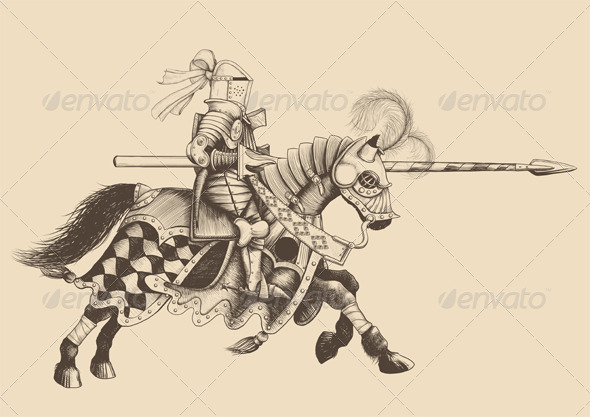 Horseback Knight of the Tournament - Characters Vectors