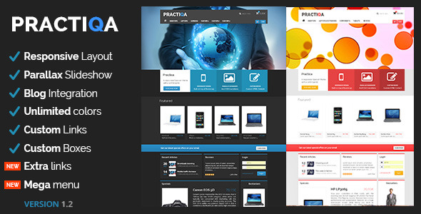 Practiqa Responsive & Customizable Opencart Theme