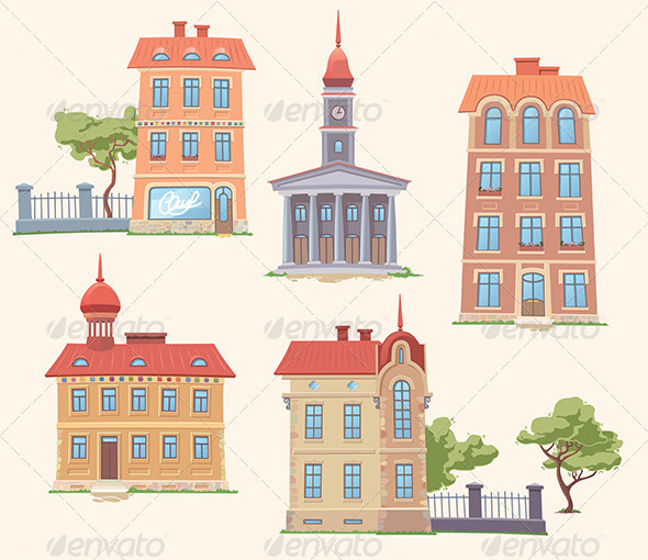 GraphicRiver Classic Vector Buildings Set 5946920