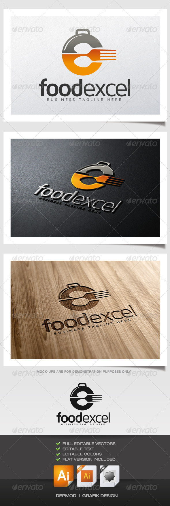 GraphicRiver Food Excel Logo 5946786