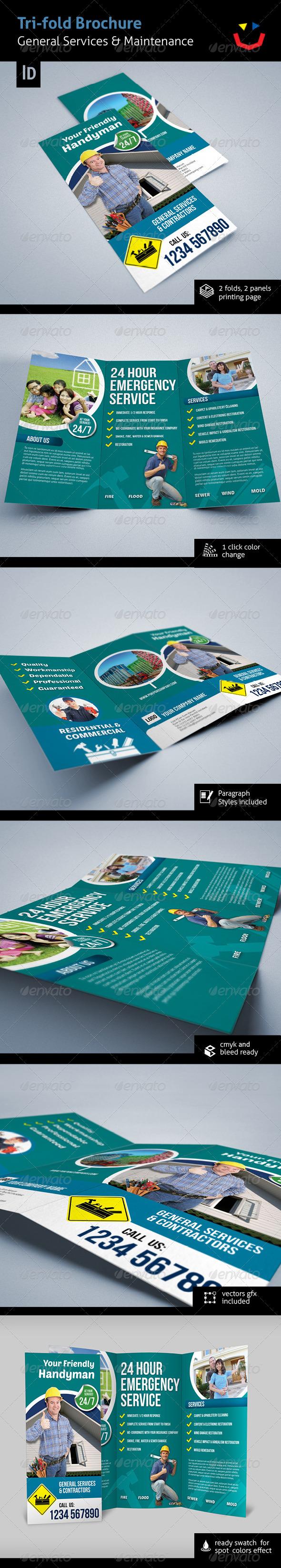 Tri-fold General Services & Contractors Brochure