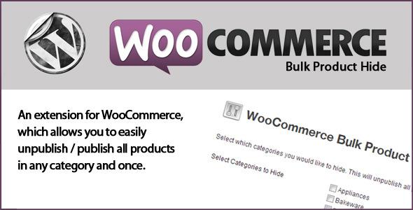 CodeCanyon WooCommerce Bulk Product Hide 5947506