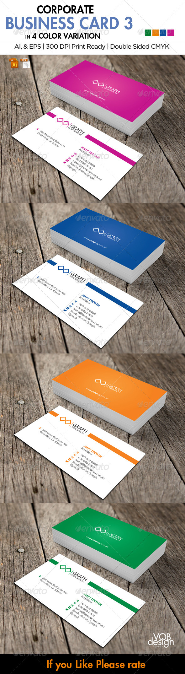 GraphicRiver Corporate Business Card 3 5947647